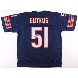 "Dick Butkus Signed Bears Jersey Inscribed ""HOF 79"" (JSA COA)"