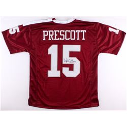 "Dak Prescott Signed Mississippi State Bulldogs Jersey Inscribed ""Hail State"" (JSA COA)"