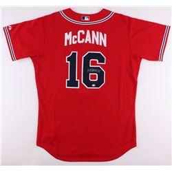 Brian McCann Signed Braves Authentic Majestic Jersey (Radtke COA)