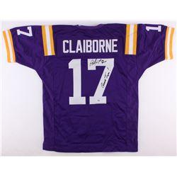 "Morris Claiborne Signed LSU Tigers Jersey Inscribed ""Geaux Tigers!"" (Radtke COA)"