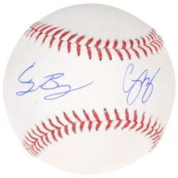 Corey Seager  Cody Bellinger Signed OML Baseball (Fanatics)