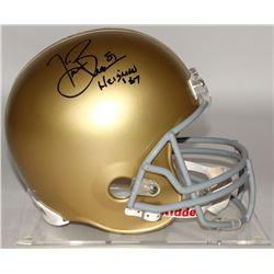 "Tim Brown Signed Notre Dame Fighting Irish Full-Size Helmet Inscribed ""Heisman '87"" (Brown Hologram)"
