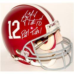 "AJ McCarron Signed Alabama Crimson Tide Full-Size Authentic On-Field Helmet Inscribed ""Roll Tide!"" ("