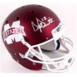 Dak Prescott Signed Mississippi State Bulldogs Full-Size Helmet (JSA COA)
