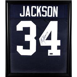 Bo Jackson Signed Auburn Tigers 23x27 Custom Framed Jersey Display (Radtke COA)