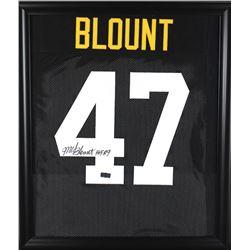 "Mel Blount Signed Steelers 23x27 Custom Framed Jersey Inscribed ""HOF 89"" (Radtke COA)"