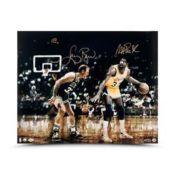 "Magic Johnson  Larry Bird Signed ""Lakers vs Celtics"" LE 16x20 Photo (UDA COA)"