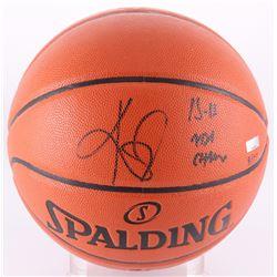 """Kyrie Irving Signed NBA Game Ball Series Basketball Inscribed """"15-16 NBA Champ"""" (Panini COA)"""