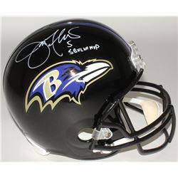 "Joe Flacco Signed Ravens Full-Size Helmet Inscibed ""SBXLVII MVP"" (Radtke COA)"