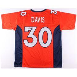 "Terrell Davis Signed Broncos Jersey Inscribed ""HOF 17"" (JSA COA)"