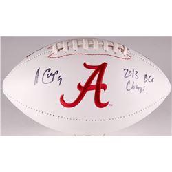 "Amari Cooper Signed Alabama Crimson Tide Logo Football Inscribed ""2013 BCS Champs"" (Radtke COA)"