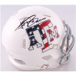 "Johnny Manziel Signed Texas AM Speed Mini-Helmet Inscribed ""'12 Heisman"" (JSA COA)"