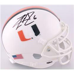 Lamar Miller Signed Miami Hurricanes Mini-Helmet (JSA COA)