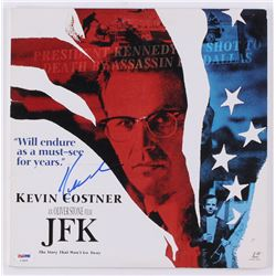 "Kevin Costner Signed ""JFK"" 12.5x12.5 Vinyl Album Cover (PSA COA)"
