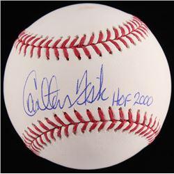 """Carlton Fisk Signed OML Baseball Inscribed """"HOF 2000"""" (JSA COA)"""