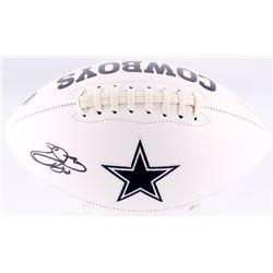 Emmitt Smith Signed Cowboys Logo Football (Beckett COA)