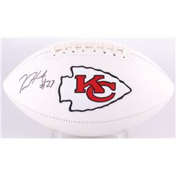 Kareem Hunt Signed Chiefs Logo Football (Radtke COA  Hunt Hologram)