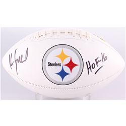 "Kevin Greene Signed Steelers Logo Football Inscribed ""HOF 16"" (Radtke COA)"