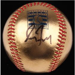 Greg Maddux Signed 24kt Gold Hall of Fame OML Baseball (MLB Hologram)