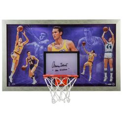 "Jerry West Signed LE ""Mr. Clutch"" 30.5x18.5 Acrylic Backboard Display (UDA COA)"