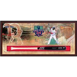 David Ortiz Signed Red Sox 49.5x23.5x3.25 Custom Framed Marucci Game Model Baseball Bat Shadowbox Di