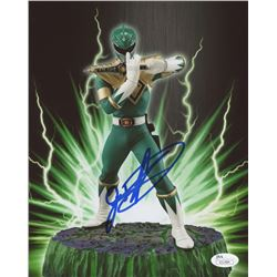 "Jason David Frank Signed ""Power Rangers""  8x10 Photo (JSA COA)"