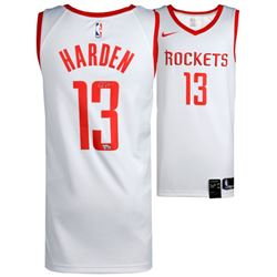 James Harden Signed Rockets Nike Jersey (Fanatics Hologram)