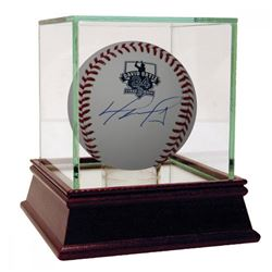 David Ortiz Signed Retirement Logo Baseball with High Quality Display Case (Fanatics Hologram)