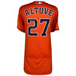 "Jose Altuve Signed Astros Jersey Inscribed ""17 WS Champs"" (Fanatics Hologram)"