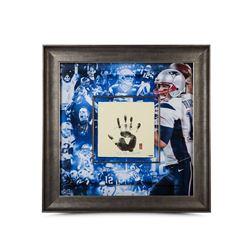 Tom Brady Signed Patriots 36x36 Custom Framed Tegata (UDA COA)