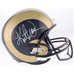 Kurt Warner Signed Rams Full-Size Helmet (Warner Hologram)