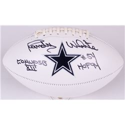 "Randy White Signed Cowboys Logo Football Inscribed ""Co MVP SB XII""  ""HOF 94"" (JSA COA  Radtke Hologr"