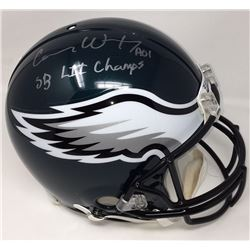 """Carson Wentz Signed Eagles Full-Size Authentic On-Field Helmet Inscribed """"SB LII Champs"""" (Fanatics H"""