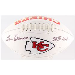 "Len Dawson Signed Chiefs Logo Football Inscribed ""SB IV MVP"" (Radtke COA)"