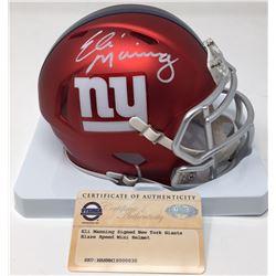 Eli Manning Signed Giants Blaze Speed Mini Helmet (Steiner COA)