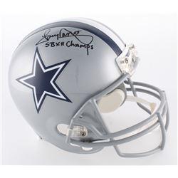 """Tony Dorsett Signed Cowboys Full-Size Helmet Inscribed """"SB XII Champs"""" (Radtke COA)"""