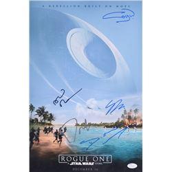 Star Wars Rogue One 12x18 Photo Signed By (5) With Donnie Yen, Gary Whitta, Gareth Edwards, Alan Tud