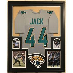 Myles Jack Signed Jaguars 34x42 Custom Framed Jersey Display (JSA COA)