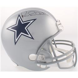"""Michael """"Playmaker"""" Irvin Signed Cowboys Full-Size Helmet (JSA COA)"""