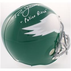 "Ron Jaworski Signed Eagles Full-Size Helmet Inscribed ""Polish Rifle"" (JSA COA)"