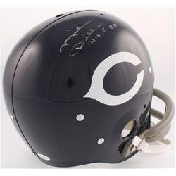 """Mike Ditka Signed Bears Throwback TK Suspension Full-Size Helmet Inscribed """"H.O.F. 88"""" (JSA COA)"""