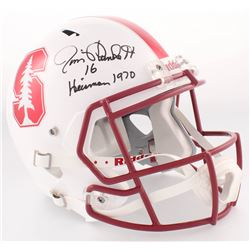 "Jim Plunkett Signed Stanford University Full-Size Speed Helmet Inscribed ""Heisman 1970"" (Radtke COA)"