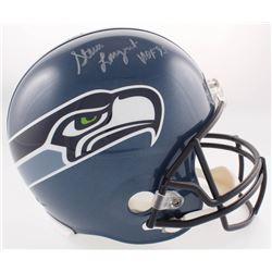 """Steve Largent Signed Seahawks Throwback Full-Size Helmet Inscribed """"HOF '95"""" (JSA COA)"""