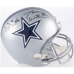 Dak Prescott  Jason Witten Signed Cowboys Full-Size Helmet (JSA COA, Dak Prescott Hologram  Jason Wi