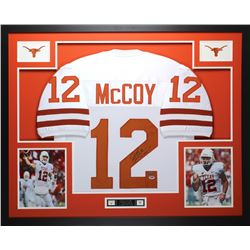 "Colt McCoy Signed Texas Longhorns 35"" x 43"" Custom Framed Jersey (PSA COA  GTSM Hologram)"