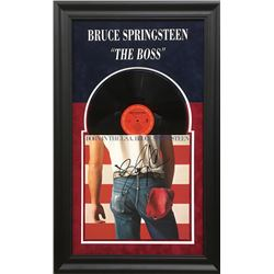 "Bruce Springsteen Signed ""Born in the U.S.A."" 20x32 Custom Framed Vinyl Record Album (JSA LOA)"