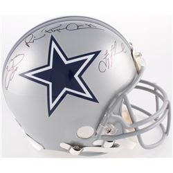 Troy Aikman, Emmitt Smith  Michael Irvin Signed Cowboys Full-Size Authentic On-Field Helmet (JSA COA