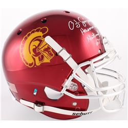 """O. J. Simpson Signed USC Trojans Full-Size Authentic On-Field Helmet Inscribed """"Heisman 68""""  """"Nation"""