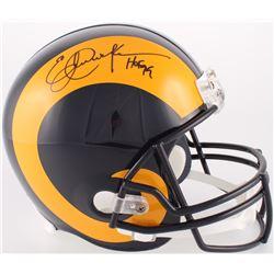 "Eric Dickerson Signed Rams Full-Size Throwback Helmet Inscribed ""HOF 99"" (JSA COA)"