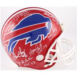 Bills Hall of Famers Full-Size Authentic On-Field Helmet Team-Signed By (8) With O.J. Simpson, Mark